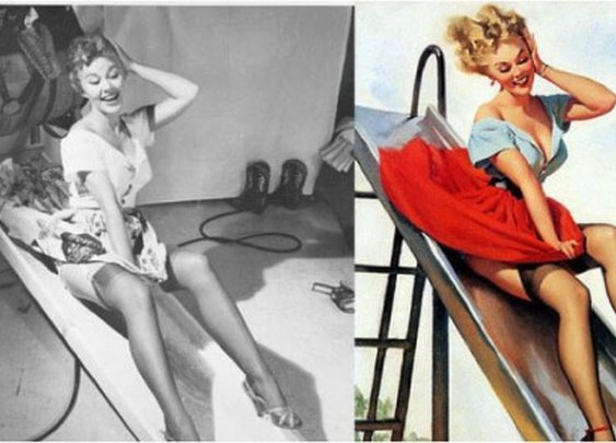 Pin-Up Girls Before & After, 1950s | Retronaut