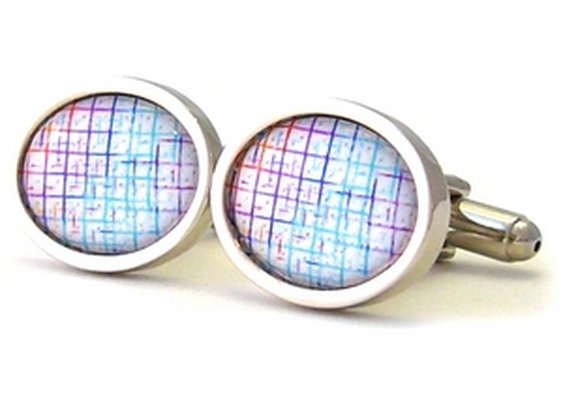 Electro pastel cuff links! Loves it!