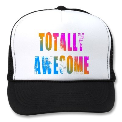 To spice up your look...80's trucker cap
