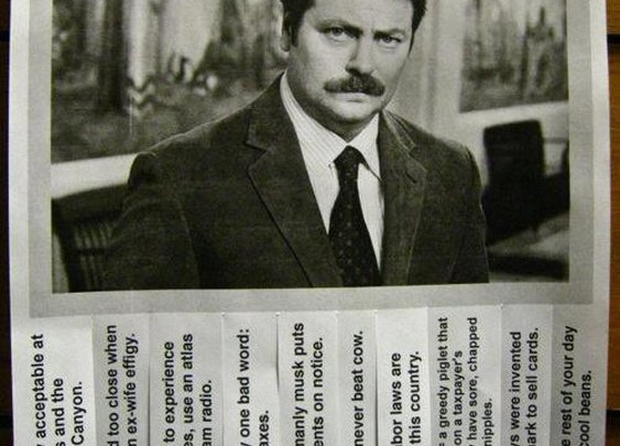 Free advice, from Mr. Swanson