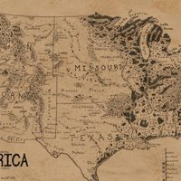 A map of the United States, drawn in the style of Lord of the Rings