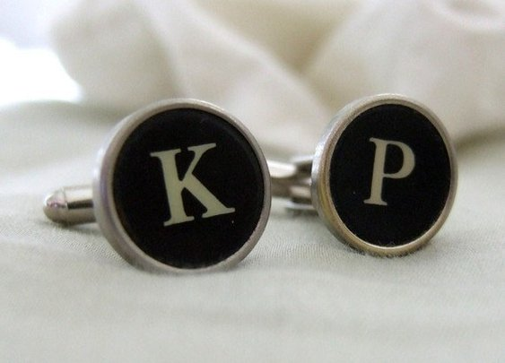 Typewriter Cufflinks  by qacreate on Etsy