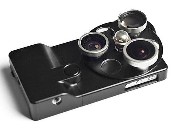Aluminum iPhone 4S Case with Integrated Phone Lenses |Gadgetsin