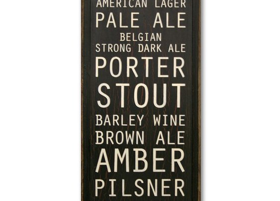 Types Of Beer by saltboxsigns on Etsy