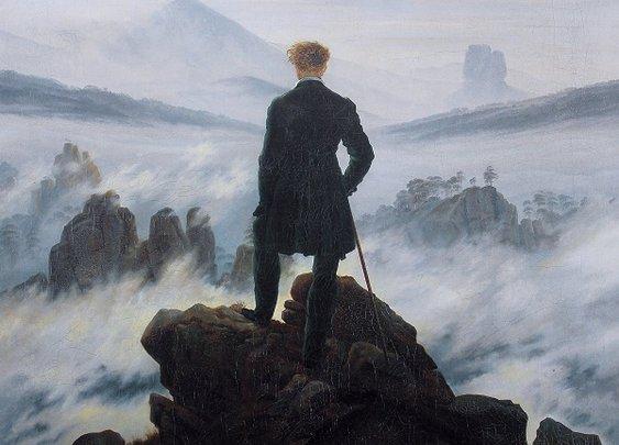 Wanderer Above the Sea of Fog :: Caspar David Friedrich