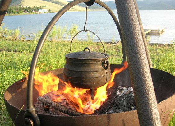 Cowboy Cauldron Portable Fire Pit and Grill - NapaStyle