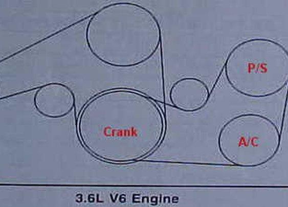 Belt Diagram GM V6 3.6L Camaro