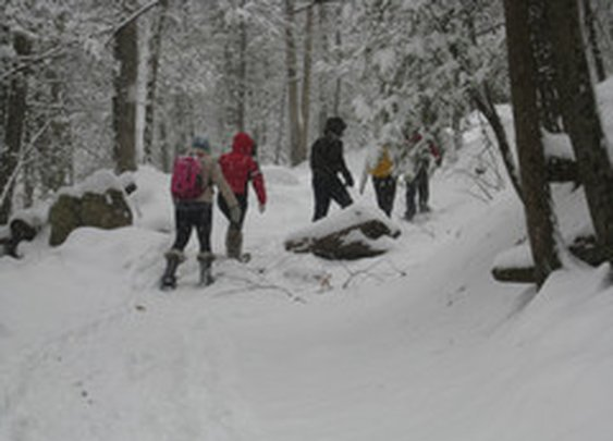 Wilderness Rocks: Hiking in the Snow