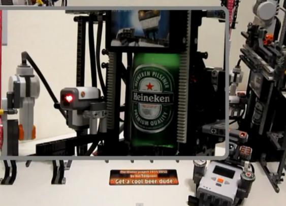 MAKE | Lego Mindstorms NXT Beer Machine