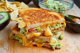 Closet Cooking: Bacon Guacamole Grilled Cheese Sandwich