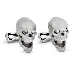 Ralph Lauren Shoes & AccessoriesWhite Gold Skull Cufflinks with Diamond Eyes MR PORTER