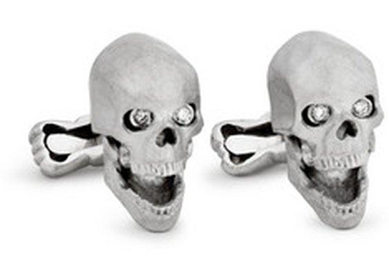 Ralph Lauren Shoes & AccessoriesWhite Gold Skull Cufflinks with Diamond Eyes|MR PORTER