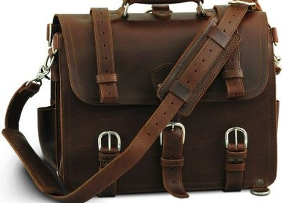 Chestnut Leather Briefcase