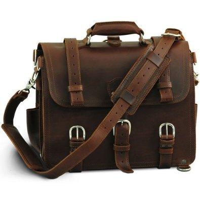 Chestnut Leather Briefcase
