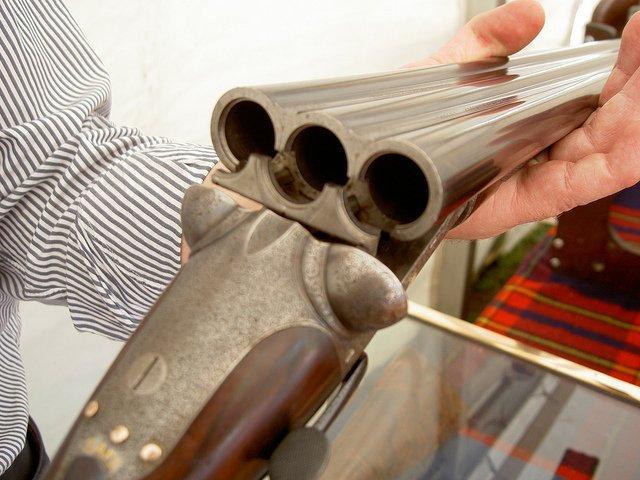 Dickson triple barrel 16 gauge sidelever