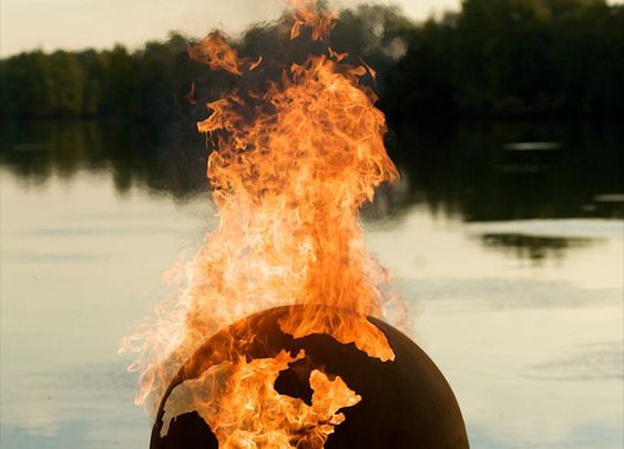 Hell On Earth, Or, As The World Burns: Globe Fire Pit | Geekologie