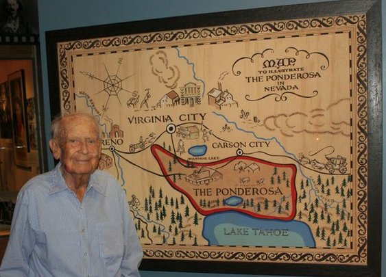 Artist who created TV 'Bonanza' map dies at 98 - latimes.com