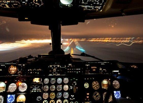 A pilot's view.