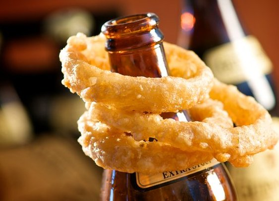 Dark Extra Stout Beer Battered Onion Rings in Recipes on The Food Channel®