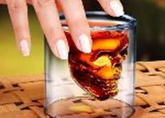 Doomed Skull Shot Glass - DudeIWantThat.com