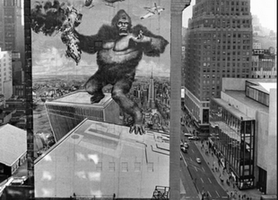 copyranter: King Kong billboard, midtown Manhattan, 1976.