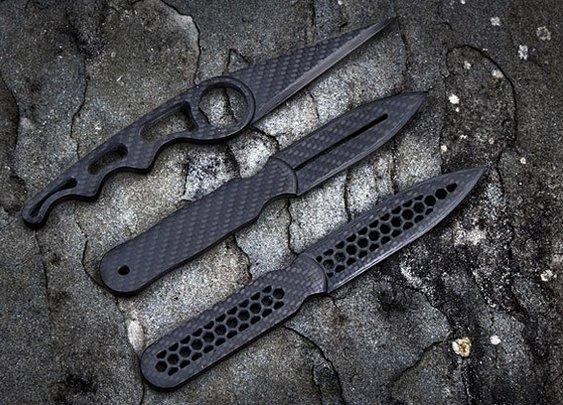 Carbon Fiber Daggers   Uncrate
