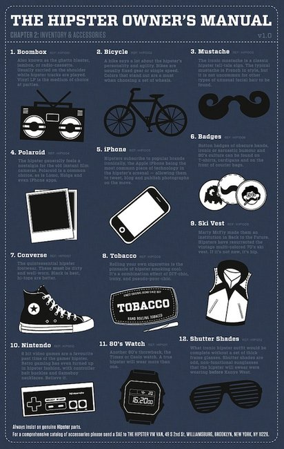 Hipster Owner's Manual: What You Need To Be A 'Hipster' - DesignTAXI.com