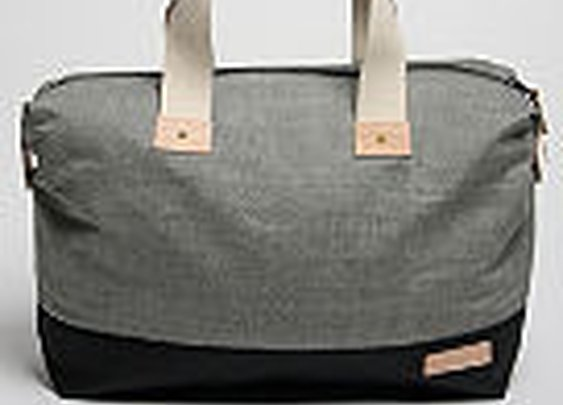 Rag & Bone Men's Weekend Bag in grey denim / black canvas at oki-ni