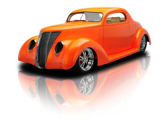 1937 Orange Ford Coupe