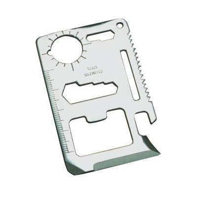 11 Function Credit Card Size Survival Pocket Tool
