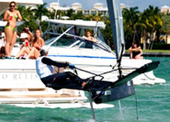 Sailing Foiling Moths in Miami