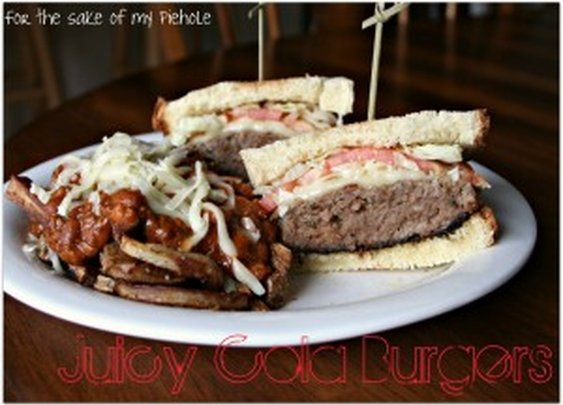 Juicy Cola Burgers & Rosemary Chilli Cheese Fries