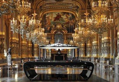 Black Light Billiard Tables by Toulet