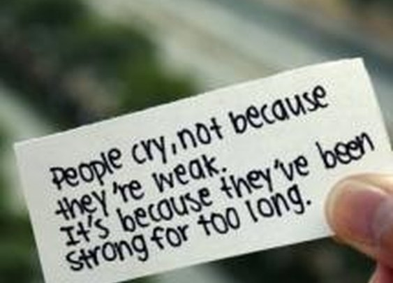 People cry....