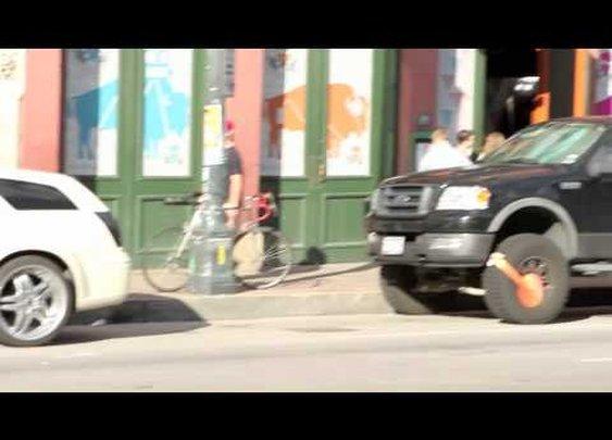 BOOTED IN AUSTIN--ParkMe Promotes @ SXSW... Guerilla Marketing Style!      - YouTube