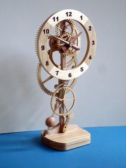 High tech, handcrafted pendulum Mystery Clock - by DickB @ LumberJocks.com