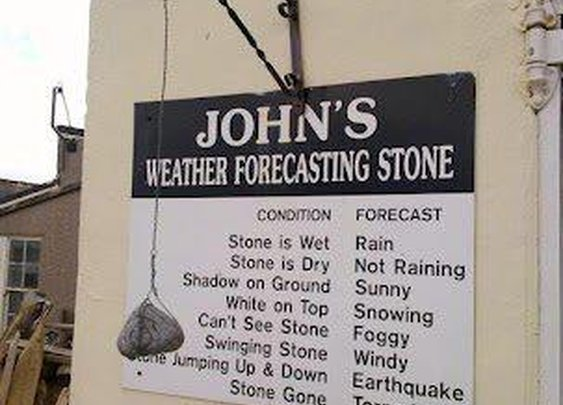 Ho needs the weather forecast