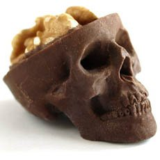 Chocolate Skulls With Edible Brains