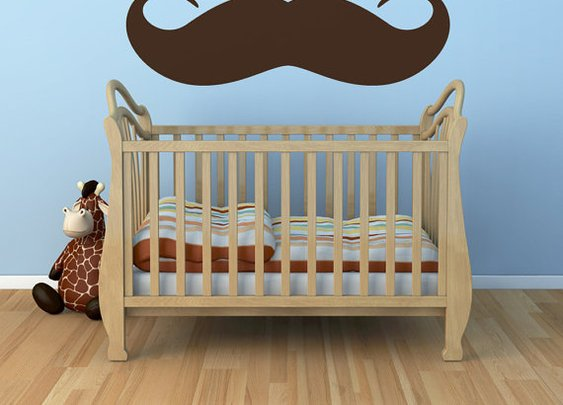 Vinyl Wall Sticker Decal Art  The Moustache vs by urbanwalls