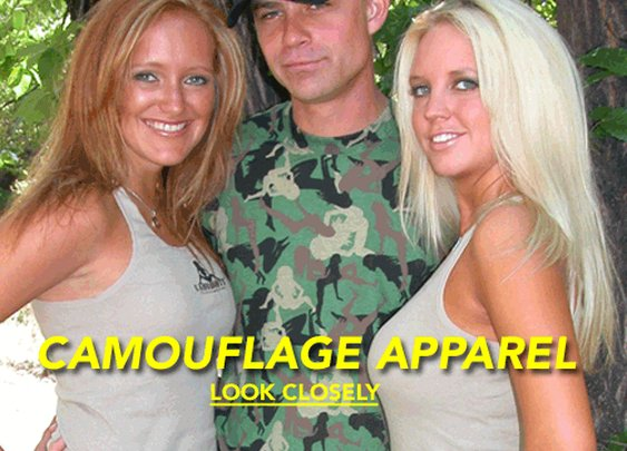 Camobooty :: Camouflage Apparel:: The camo you want to be seen in - Home