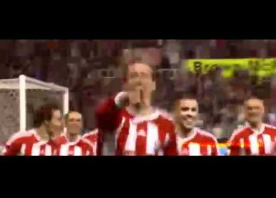 Peter Crouch Amazing Volley Goal | Stoke vs. Manchester City