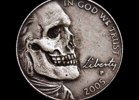 Scraping Away the Skin on Skull Nickels