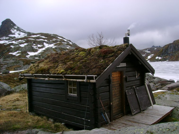 Hiker's hut on the Lofoten Islands, Norway.