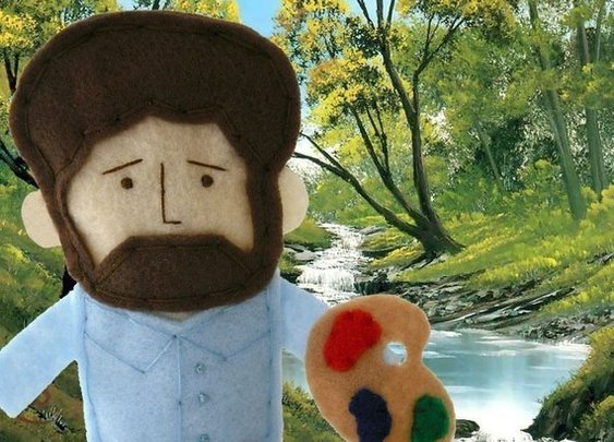 Bob Ross Finger Puppet by abbeychristine on Etsy