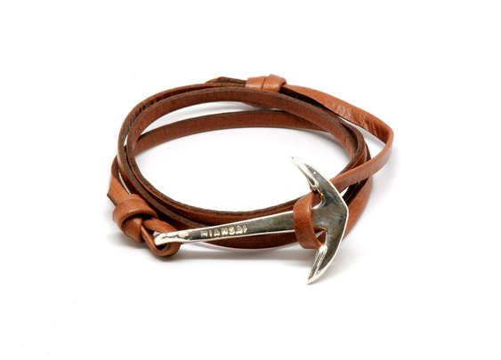 MIANSAI by Michael Saiger :: Anchor on Brown Leather