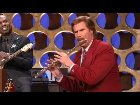 "Ron Burgundy's ""Anchorman"" Announcement - CONAN on TBS      - YouTube"
