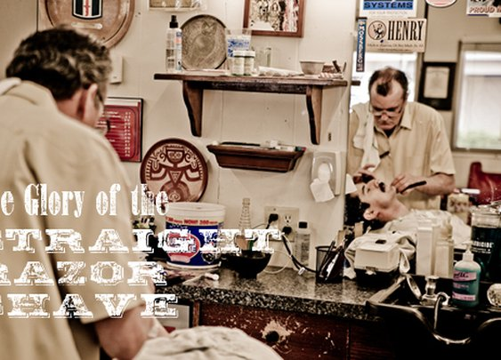 Photo Essay: The Straight Razor Shave   The Art of Manliness