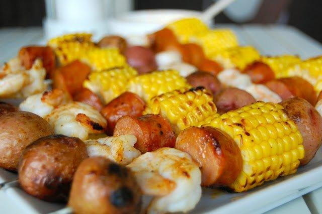 Cook Au Vin: Shrimp Boil Kebabs
