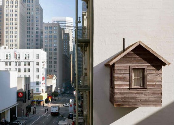 Manifest Destiny! Parasite Cabin Clings to San Francisco Wall