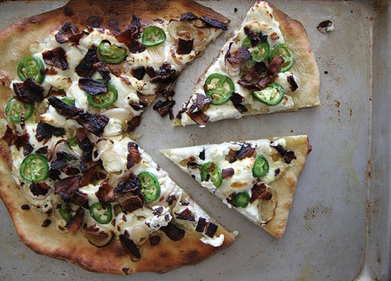 Jalapeno Popper pizza  |  Heather Christo Cooks